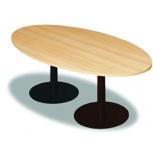 Jednací stůl elipsa - 2 × centrální noha